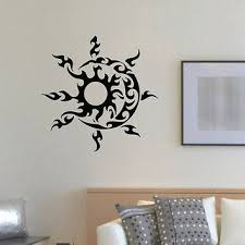 sun wall decal trendy designs: wall decal vinyl sticker sun and moon duet symbol ethnic decor s