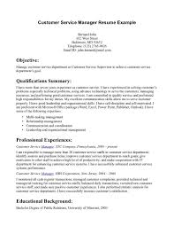 Example Resume  Customer Service Manager Resume Examples Customer Service Manager Resume Samples Mr Sample Resume