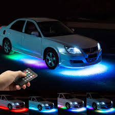 Niscarda 4pcs <b>Car LED</b> Starry <b>Foot</b> Light USB Atmosphere Ambient ...