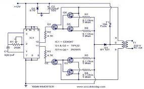 block diagram of inverter the wiring diagram 100 watt inverter circuit block diagram