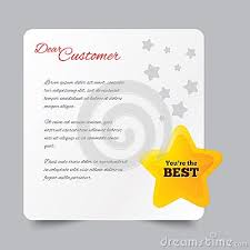 Customer service letter  Thank you for buying