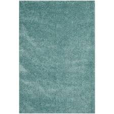 safavieh california shag light blue 4 ft x 6 ft area rug sg151 6060 4 the home depot california shag black 4 ft