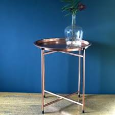 copper bedside tray chests tables folding coffee table furniture idaho house round bargu mango wood side table