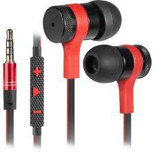 Nutitelefonide jaoks garnituur <b>Arrow black</b>+<b>red</b>, cable 1.2 m