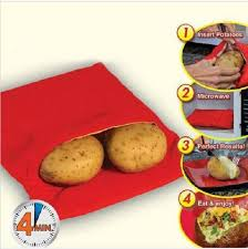<b>1PC</b> Red Washable Cooker Bag <b>Baked Potato Microwave</b> Cooking ...