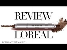 Review Lápiz de cejas <b>LOREAL Brow Artist</b> Maker Blackat Makeup