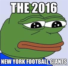 the 2016 new york football giants - sad pepe | Meme Generator via Relatably.com