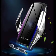 E5 10W IR Qi Wireless Car Charger <b>Automatic Clamping</b> Phone ...