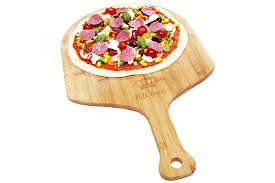 <b>Premium Natural Bamboo</b> Pizza Peel Paddle and Cutting Board ...