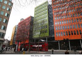 these brightly colored offices are central st giles office development containing the london offices of google central saint giles office building google