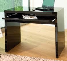 black high gloss computer desk office shelf ideas international black computer desks