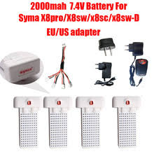<b>Аккумулятор</b> 7,4 В 2000 мАч, батарея <b>Syma X8SW</b> X8SC X8 Pro ...