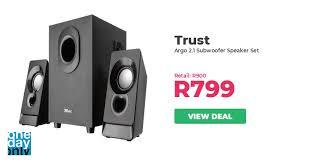 11% off on <b>Trust Argo 2.1 Subwoofer</b> Speaker Set | OneDayOnly.co.za