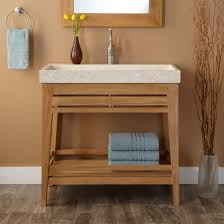open bathroom vanity cabinet: simple custom small bathroom vanity design with white marble
