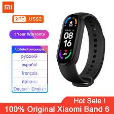 Original Xiaomi <b>Mi Band 6</b> Sport Wristband Heart Rate Fitness ...