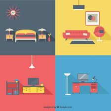 home furniture in modern style free vector furniture in style