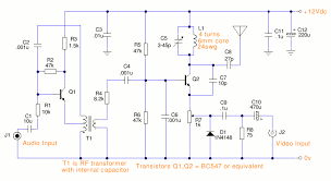 simple tv transmitter circuitsimple tv transmitter circuit schematic