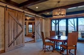 barn door design dining room rustic with none barn lighting create rustic