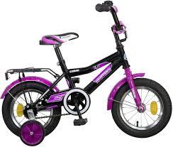 """Велосипед детский <b>Novatrack</b> """"<b>Cosmic</b>"""", цвет: <b>черный</b>, сиреневый ..."""