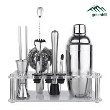 Greenhill Premium <b>Bar</b> Tool Set / <b>9 Pieces</b> Barware Cocktail Shaker ...