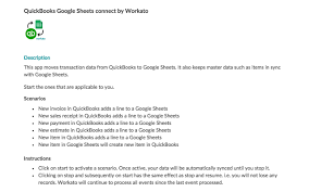 google sheets connect by workato quickbooks app store