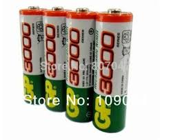 4 pcs lot aa battery nightkonic 1 2v ni mh aa rechargeable battery black
