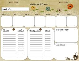 weekly meal planner template from palmettos and pigtails