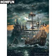 "<b>HOMFUN Full Square/Round Drill</b> 5D DIY Diamond Painting ""Skull ..."