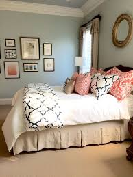 ideas light blue bedrooms pinterest: coral and light blue bedroom  coral and light blue bedroom