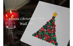 tree wall decor art youtube: diy button christmas tree wall art youtube