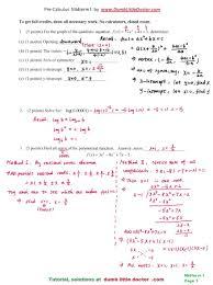 Pre Calculus homework help  Pre Calculus study notes  practice     pre calculus midterm  solution