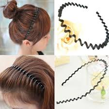 <b>Fashion Wave</b> Mens <b>Women</b> Unisex Black Wavy Hair Head Hoop ...