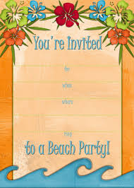printable beach party luau and bbq invitations templates these beach party invites feature four designs for four separate occasions a beach party beach bbq hawaiian luau or beach birthday party