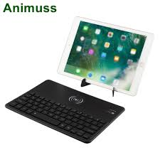 2 in 1 wireless universal charger charging keyboard for iPhone/iPad ...