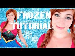 disney 39 s frozen princess anna makeup costume tutorial