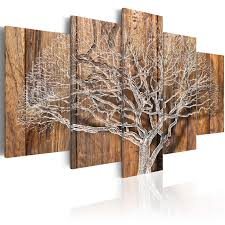 <b>5 Pieces HD</b> Canvas Painting Wall Art wood background Branches ...
