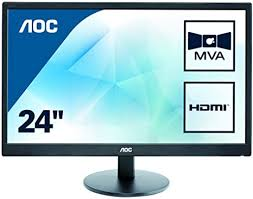 "<b>AOC M2470SWH 23.6</b>"" Widescreen MVA LED Black Multimedia ..."