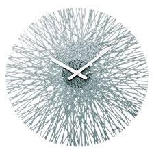 <b>Часы настенные Silk</b> серого цвета — купить по цене 4500 руб в ...