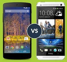 LG Nexus 5 vs HTC One