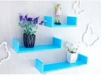 wall shelves uk x: pieces lot u shaped wall shelf wooden wall display shelves modern blueredblackwhitepink floating wall shelf home decor
