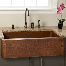 hammered copper kitchen sink: quot fiona hammered copper farmhouse sink