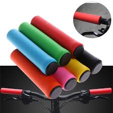 <b>1Pair Soft Foam Silicone</b> Sponge Bicycle Handlebar Gear Grip Mtb ...