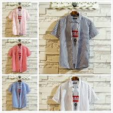 <b>2019 Summer</b> Youth Casual Striped <b>Men's Short</b>-sleeved Shirts ...