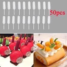 <b>50pcs</b>/<b>Set</b> 4ml <b>Disposable Plastic</b> Squeeze Transfer Pipettes Jelly ...