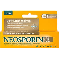 Neosporin + <b>Pain</b>, <b>Itch</b>, <b>Scar</b> Antibiotic Ointment, .5 Oz. | First Aid ...