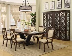 dining room modern lighting chandeliers room decor ideas captivating cream floral pattern fabric chairs exclusive best modern lighting