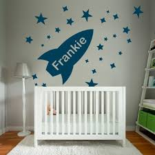 Small Picture Wall Designer Space Rocket with Stars Boys Bedroom Custom Name