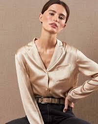 <b>Блуза</b> на пуговицах из шёлка в интернет-магазине — <b>12Storeez</b>