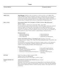 catering manager resume  best resume sample