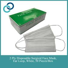 2 Ply <b>Disposable Non Woven</b> Face Mask Ear Loop <b>50 Pieces</b> ...